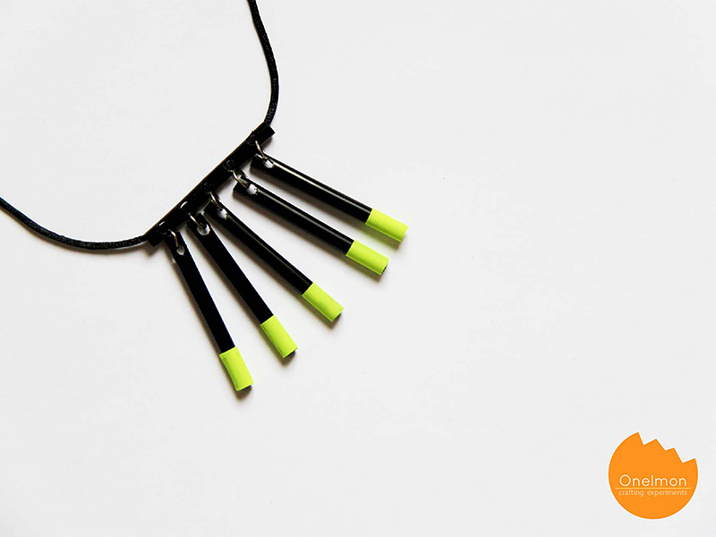 DIY Tutorial: Drinking Straw Necklace | @onelmon