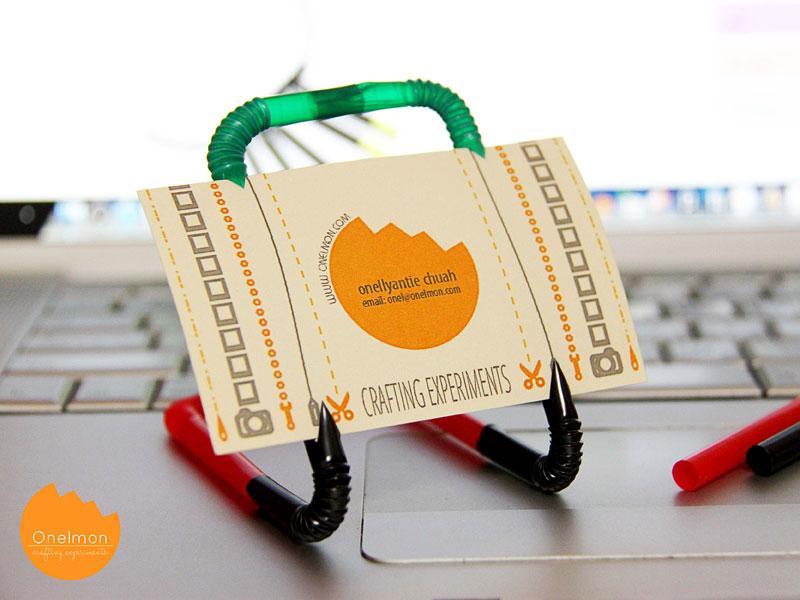 DIY Tutorial: Drinking Straw Place Card | @onelmon