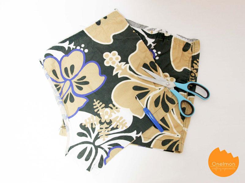 DIY Tutorial: Shorts Drawstring Bag | @onelmon