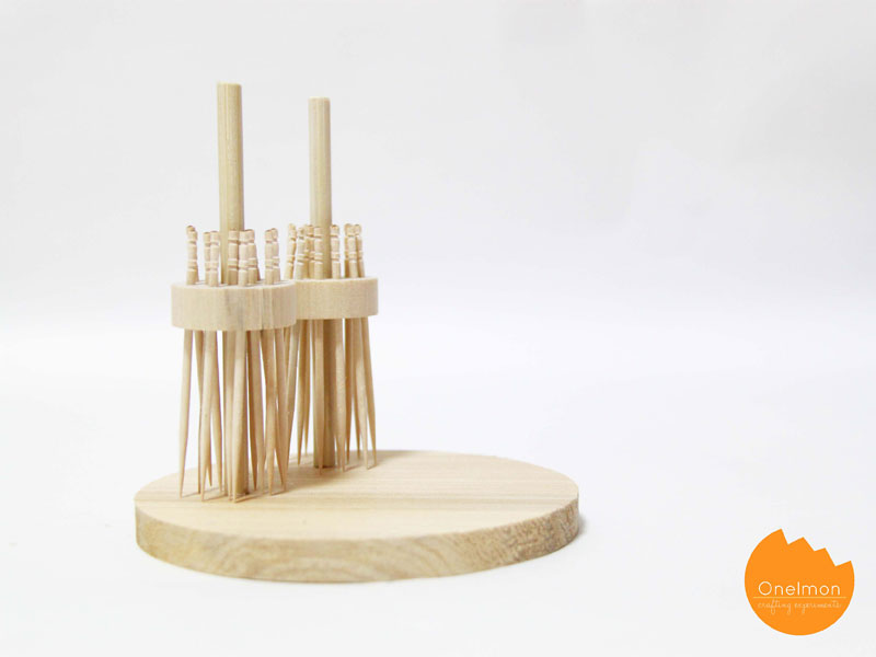 DIY Tutorial: Toothpicks-stand Broom | @onelmon