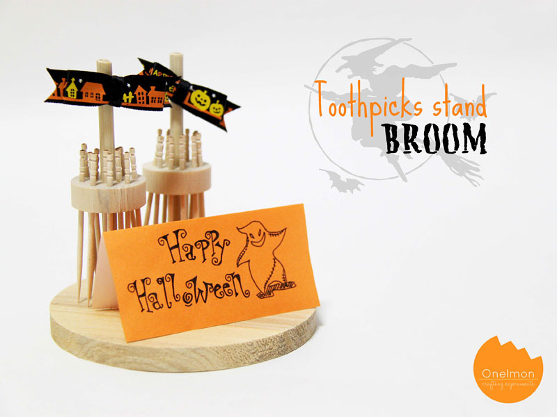 DIY Tutorial: Toothpicks-stand Broom | @onelmon