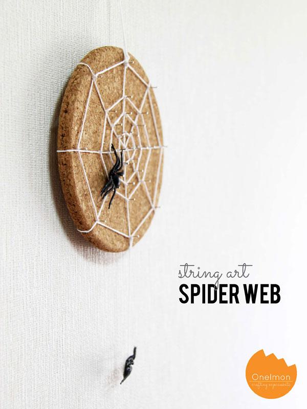 DIY Tutorial: String Art Spider Web | @onelmon