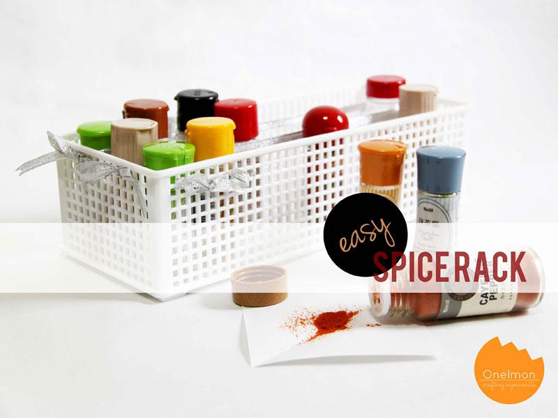 DIY Tutorial: 5-minute EASY Spice Rack | @onelmon