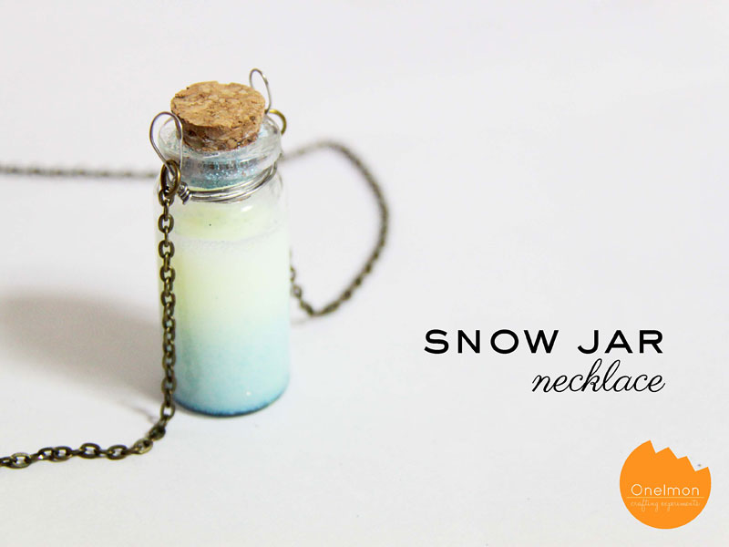 DIY Tutorial: Snow Jar Necklace | @onelmon