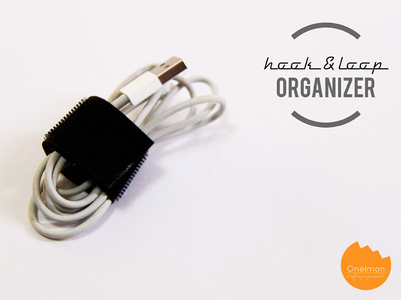 DIY Tutorial: Hook & Loop Organizer | @onelmon