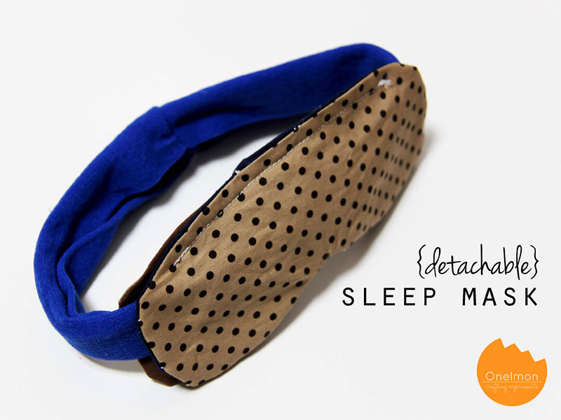 DIY Tutorial: Detachable Sleep Mask | @onelmon