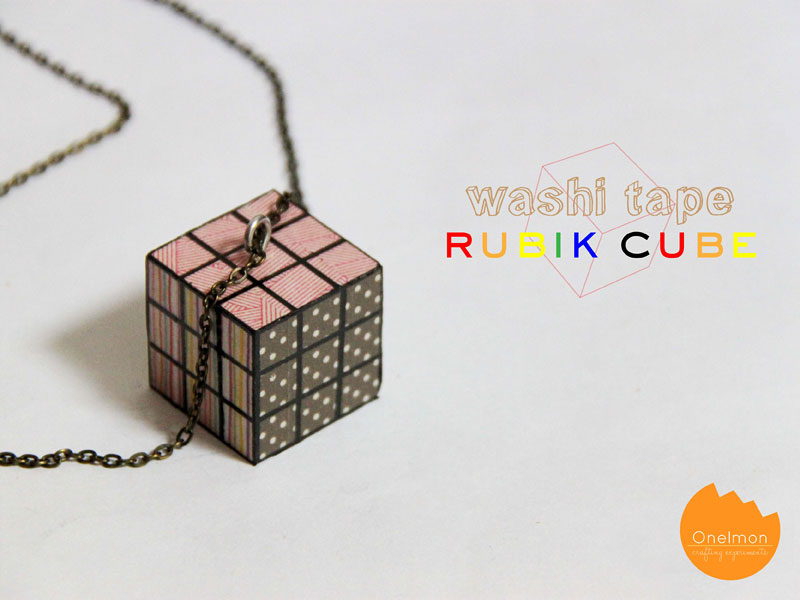 DIY Tutorial: Washi Rubik | @onelmon