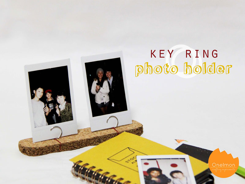 DIY Tutorial: Key Ring Photo Holder | @onelmon