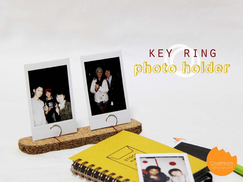 DIY Tutorial: Key Ring Photo Holder | @onelmon
