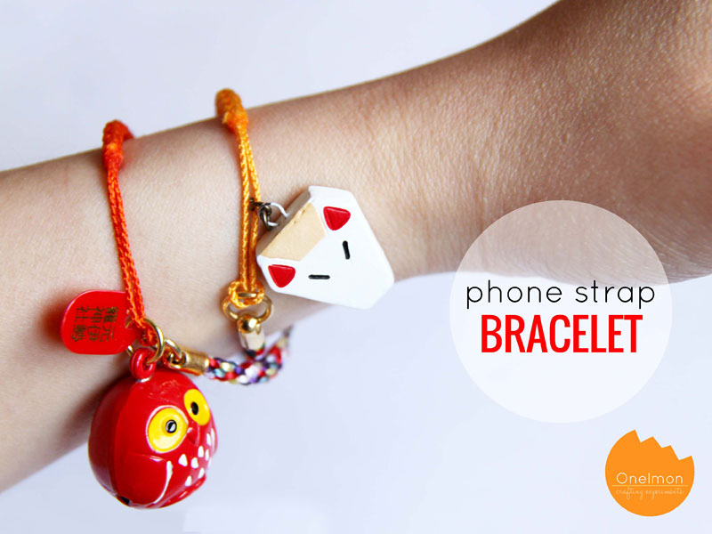 DIY Tutorial: Phone Strap Bracelet | @onelmon