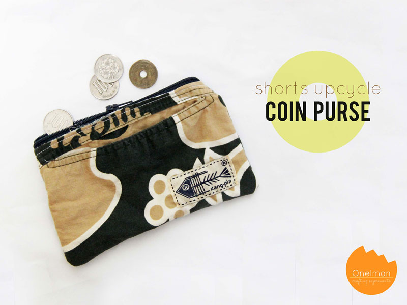 DIY Tutorial: Shorts Upcycle - Coin Purse | @onelmon